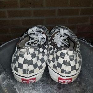 Vans Shoes - Checkered Van's authentic shoes sz 10.5